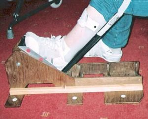 Ankle foot orthosis shoe fitting aid