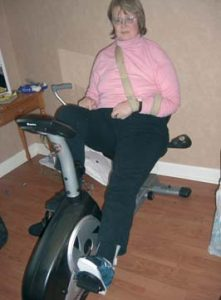Exercise bike modification