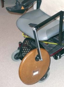 Fold-down table for wheelchair 1