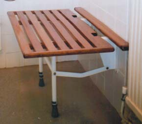 Folding shower bench 1