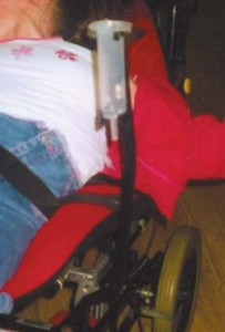 Food Syringe Clamp for Wheelchair