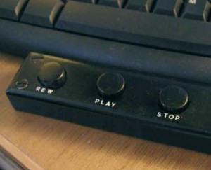 Hand-operated substitute for foot-operated dictaphone controller