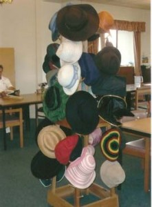 Hat stand for encouraging social activity at a day centre for the elderly