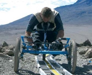 Ladders for mountain climbing in a wheelchair