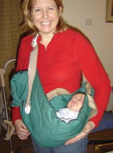 One-armed baby sling