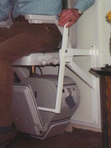 Stairlift lever