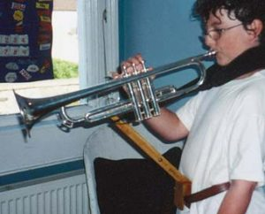 Trumpet support for right hand use only