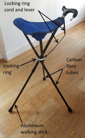 Pleasing One Handed Folding Perching Stool And Walking Stick Machost Co Dining Chair Design Ideas Machostcouk