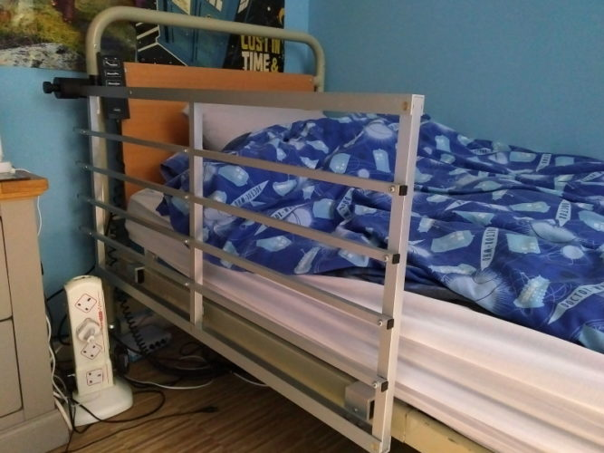 New bed rails up